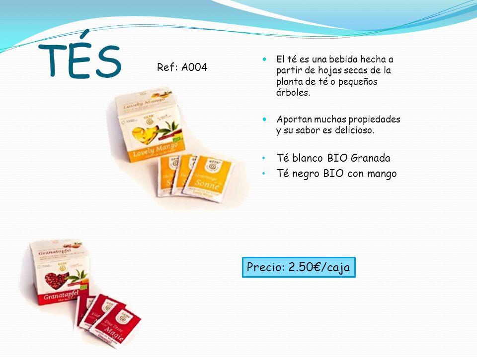 TÉS Precio: 2.50€/caja Ref: A004 Té blanco BIO Granada
