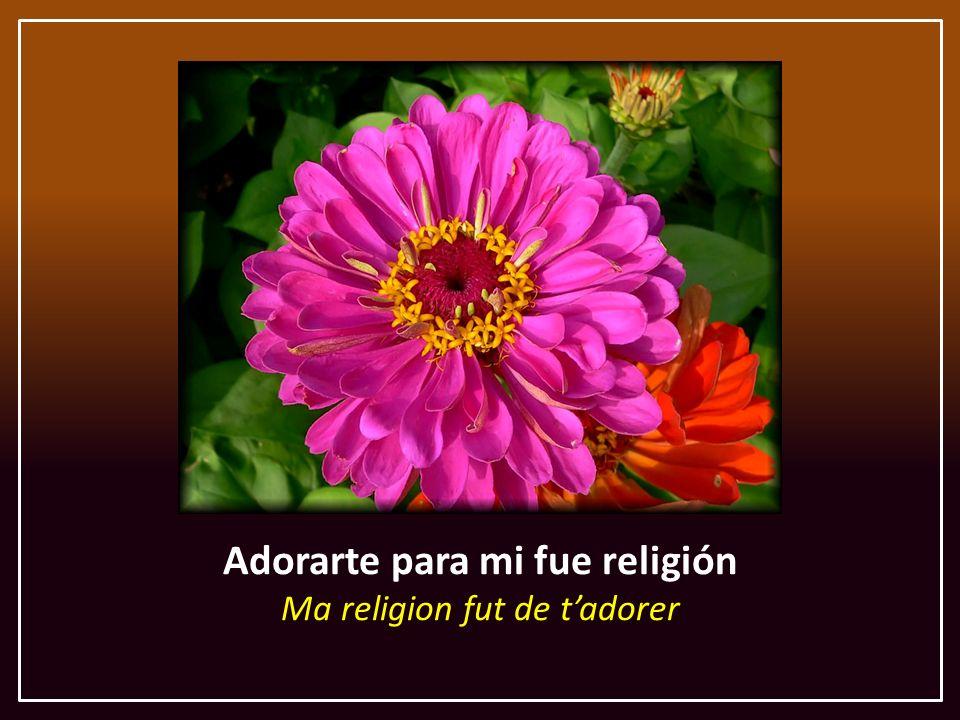 Adorarte para mi fue religión Ma religion fut de t'adorer