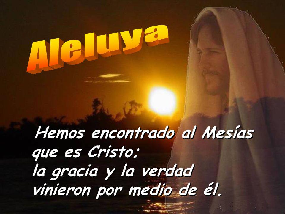 Aleluya Hemos encontrado al Mesías que es Cristo; la gracia y la verdad vinieron por medio de él.