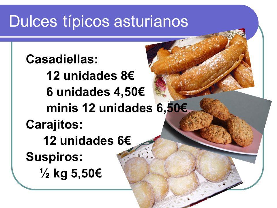Dulces típicos asturianos