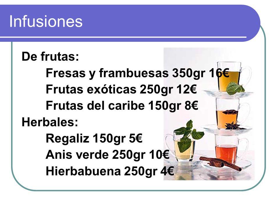 Infusiones De frutas: Fresas y frambuesas 350gr 16€