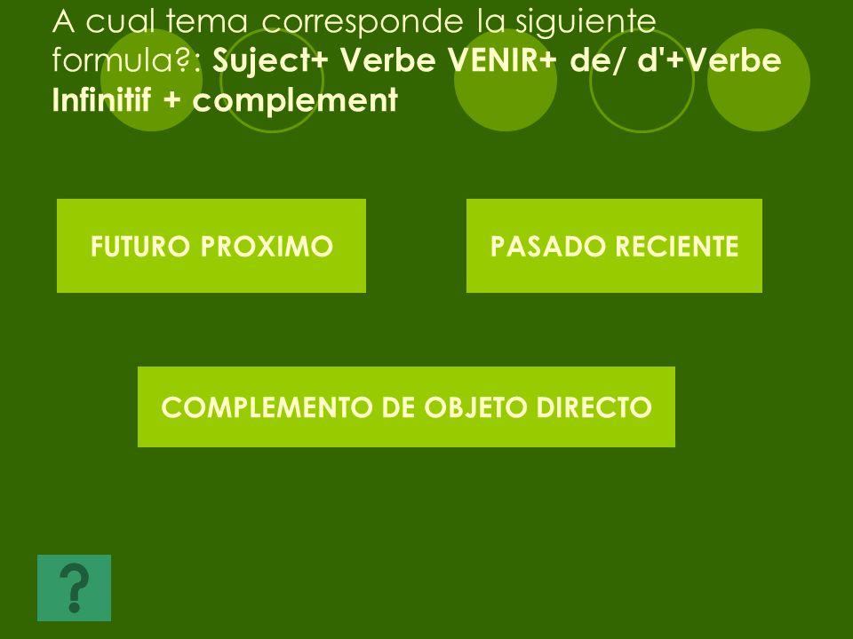 COMPLEMENTO DE OBJETO DIRECTO