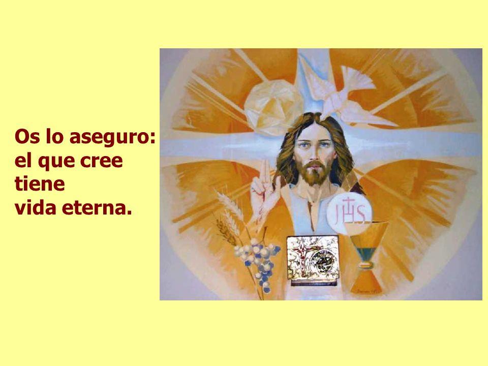 Os lo aseguro: el que cree tiene vida eterna.