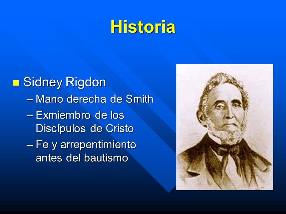 Historia Sidney Rigdon Mano derecha de Smith