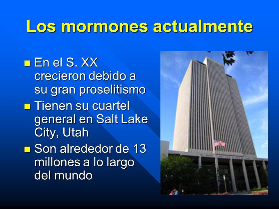 Los mormones actualmente