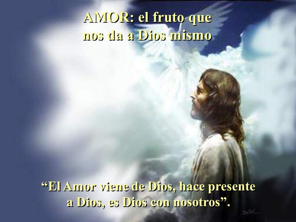 AMOR: el fruto que nos da a Dios mismo