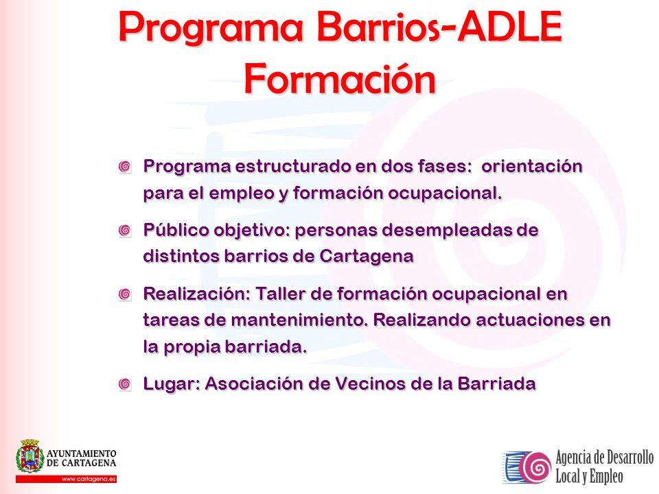 Programa Barrios-ADLE Formación