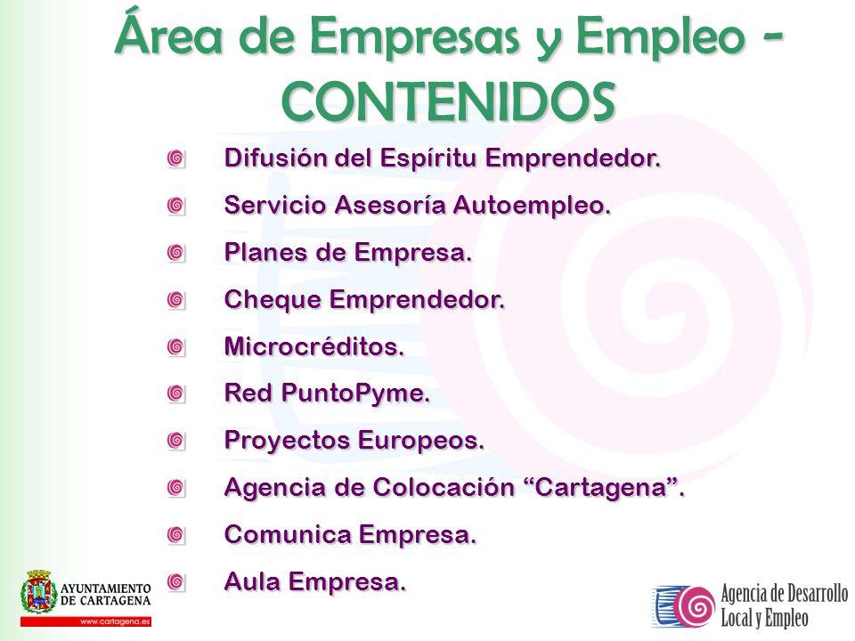 Área de Empresas y Empleo - CONTENIDOS
