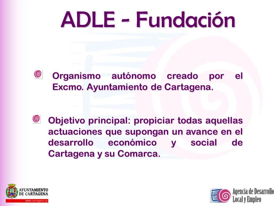 ADLE - FundaciónOrganismo autónomo creado por el Excmo. Ayuntamiento de Cartagena.