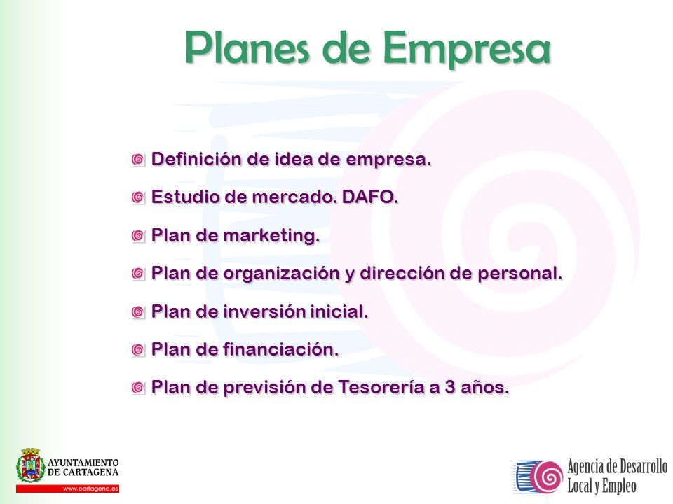 Planes de Empresa Definición de idea de empresa.