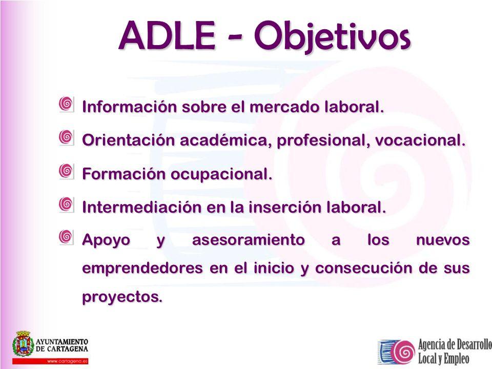 ADLE - Objetivos Información sobre el mercado laboral.