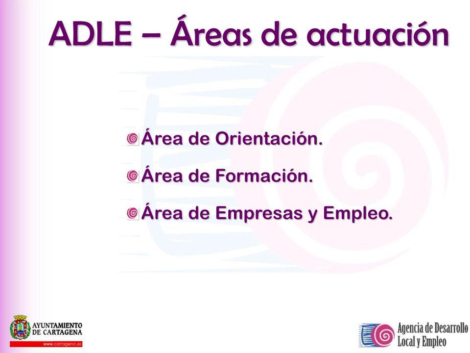 ADLE – Áreas de actuación
