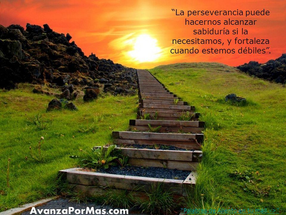 La perseverancia puede hacernos alcanzar sabiduría si la necesitamos, y fortaleza cuando estemos débiles .