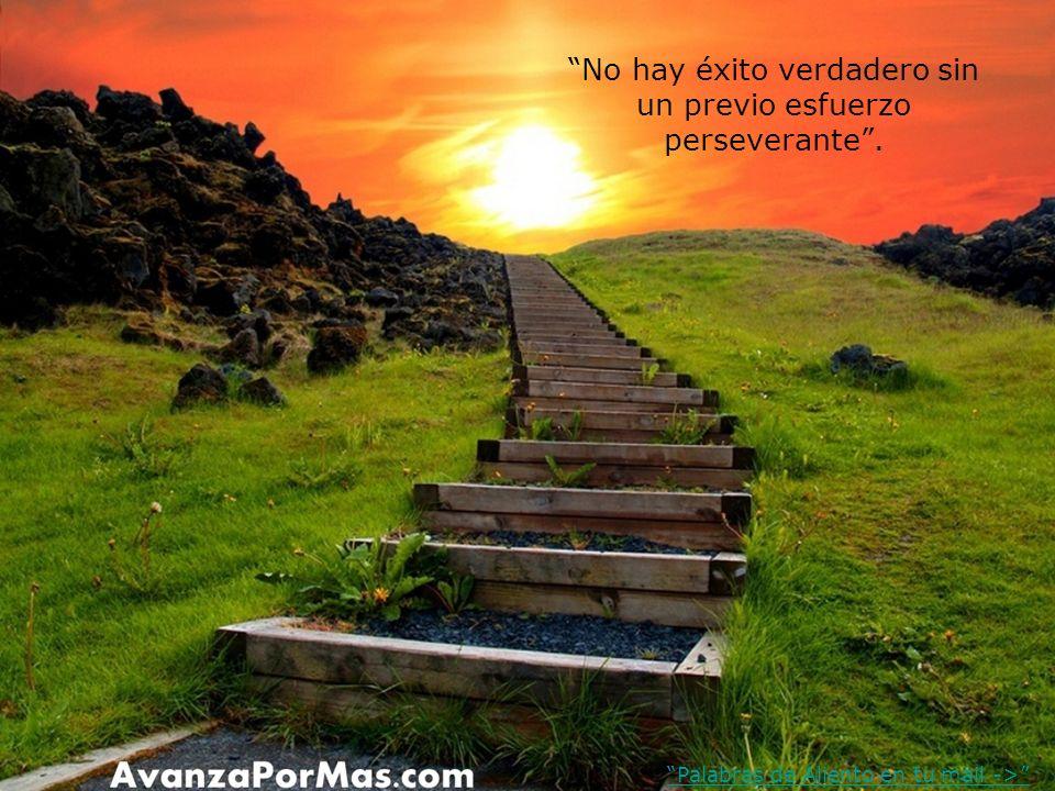 No hay éxito verdadero sin un previo esfuerzo perseverante .