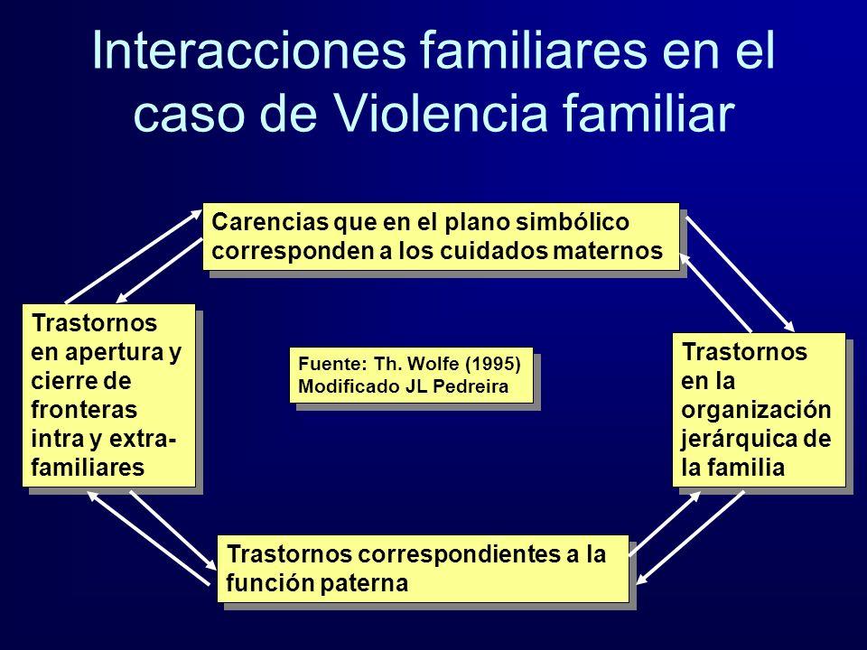 Interacciones familiares en el caso de Violencia familiar
