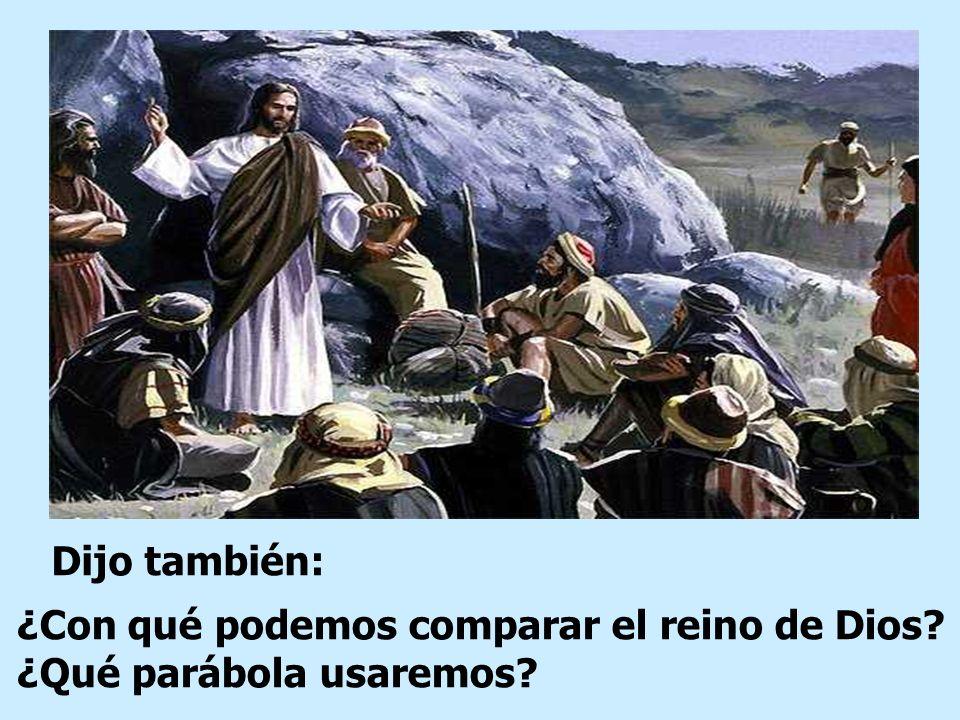 Dijo también: ¿Con qué podemos comparar el reino de Dios ¿Qué parábola usaremos