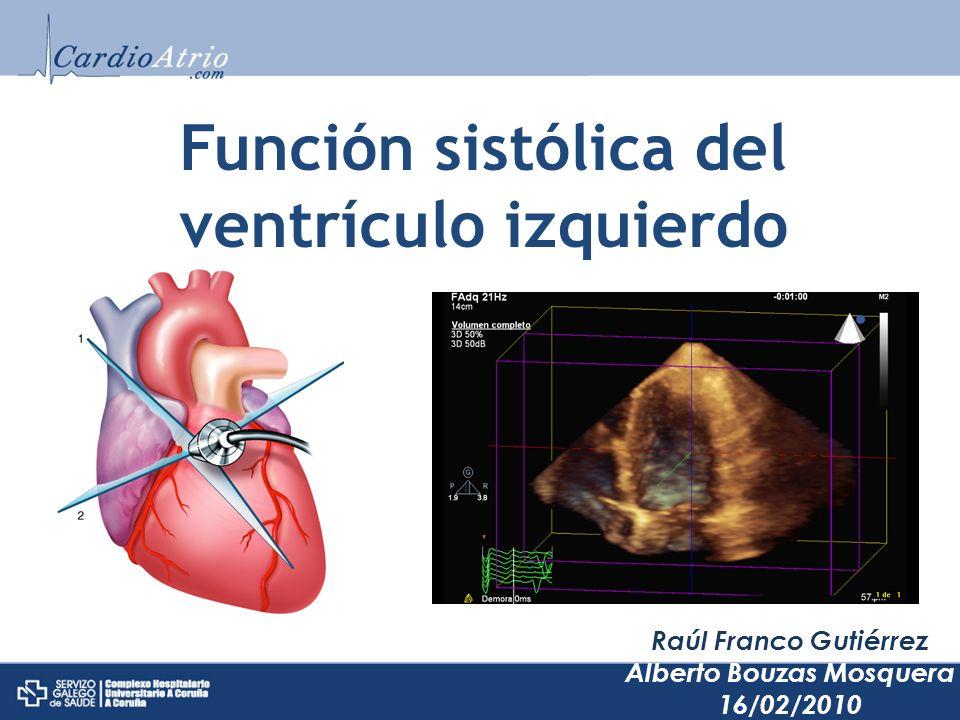 Función sistólica del ventrículo izquierdo