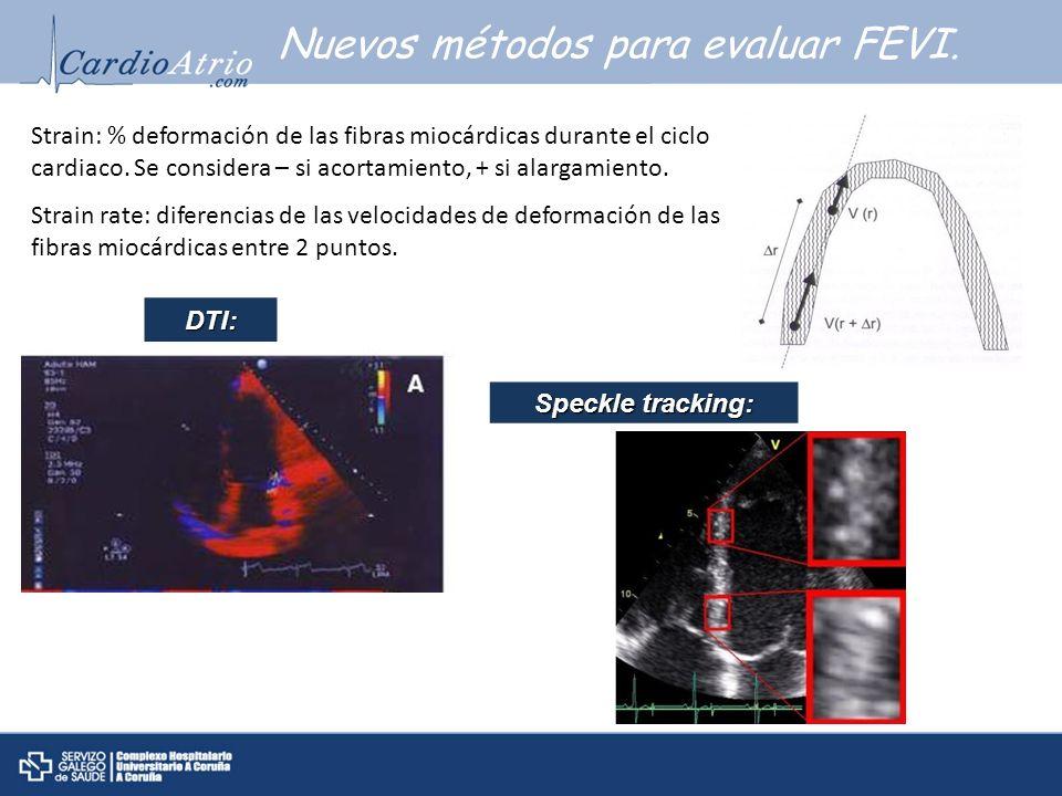 Nuevos métodos para evaluar FEVI.