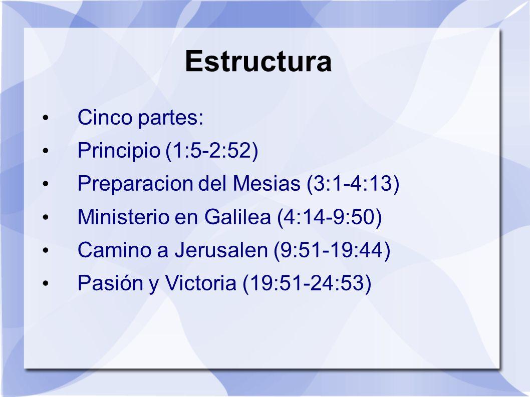 Estructura Cinco partes: Principio (1:5-2:52)