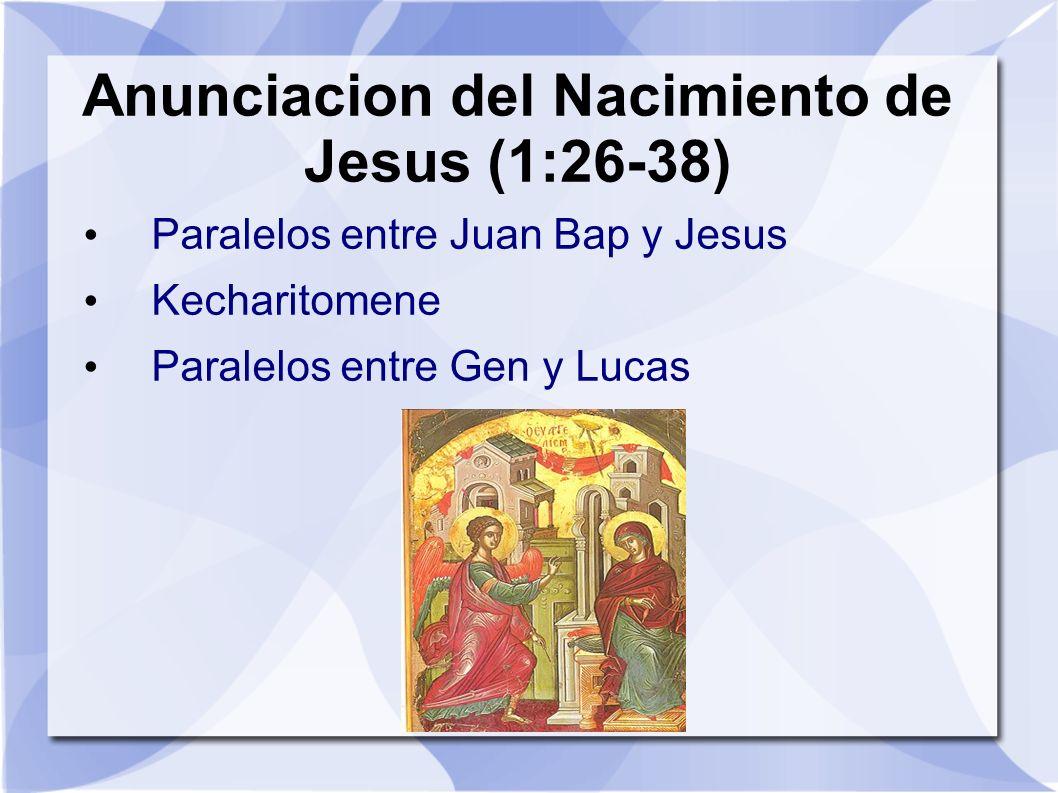 Anunciacion del Nacimiento de Jesus (1:26-38)