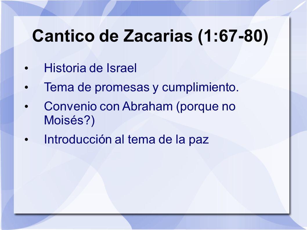 Cantico de Zacarias (1:67-80)