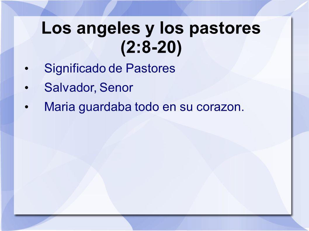 Los angeles y los pastores (2:8-20)
