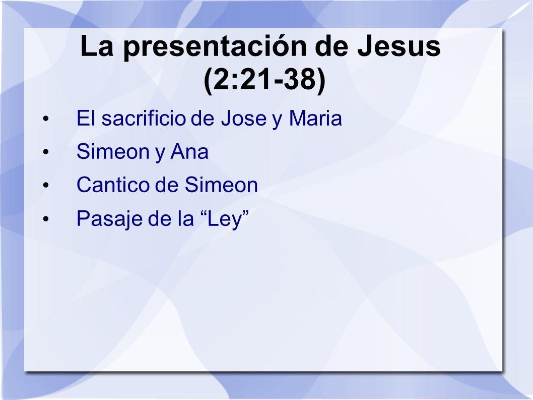 La presentación de Jesus (2:21-38)