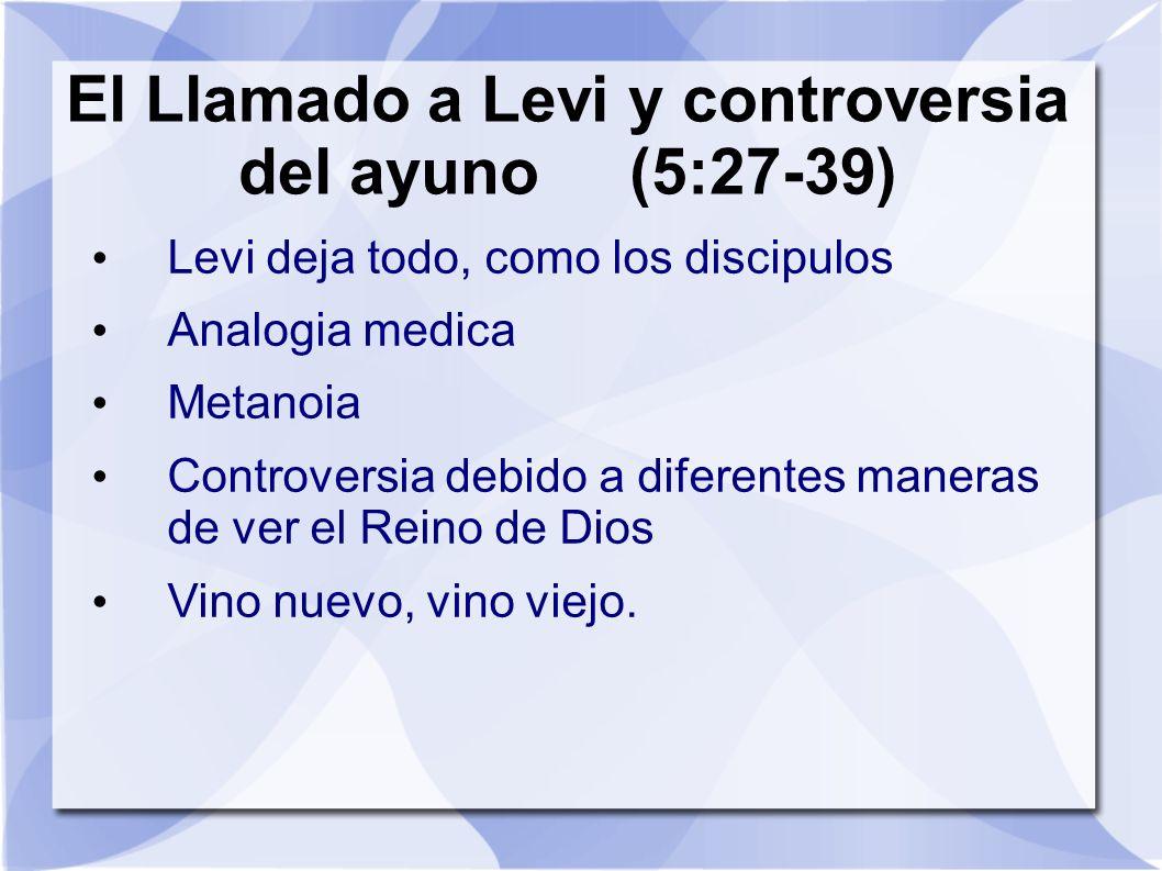 El Llamado a Levi y controversia del ayuno (5:27-39)