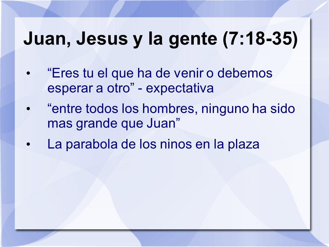 Juan, Jesus y la gente (7:18-35)