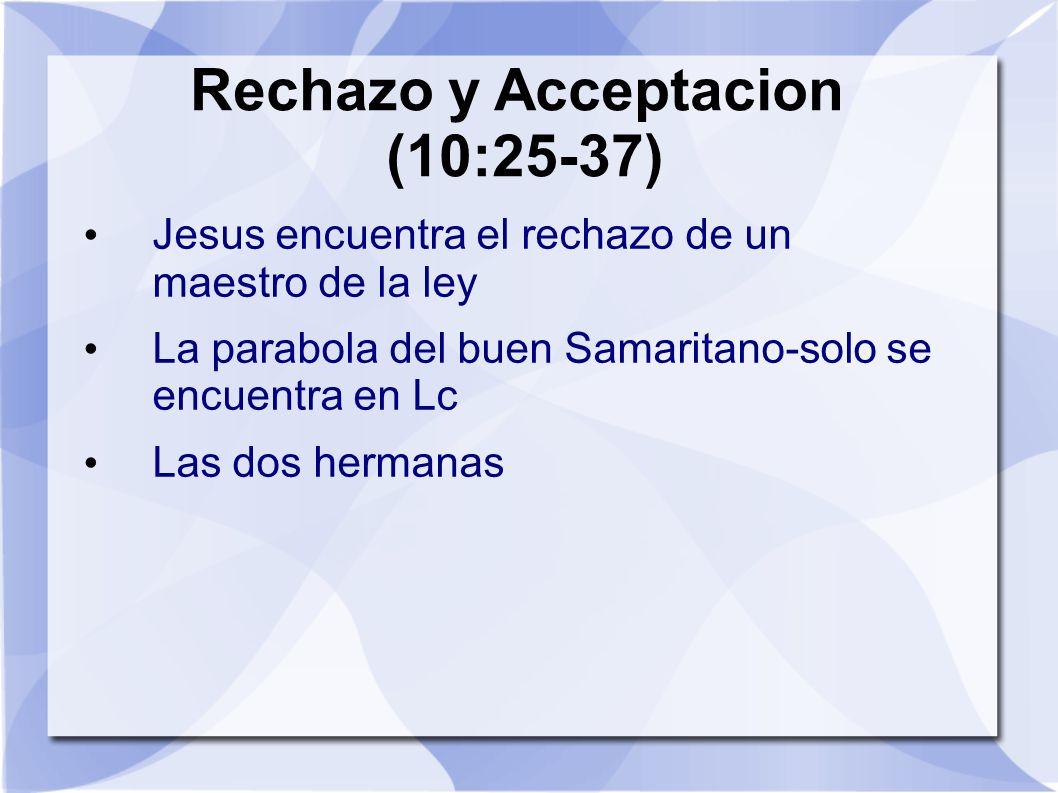 Rechazo y Acceptacion (10:25-37)