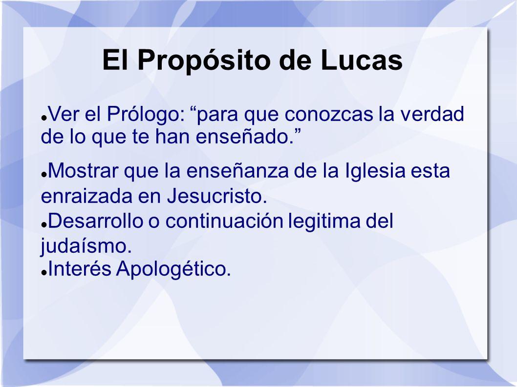 El Propósito de LucasVer el Prólogo: para que conozcas la verdad de lo que te han enseñado.