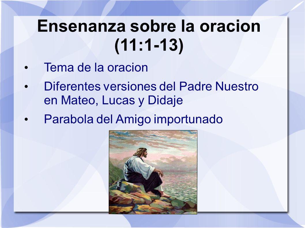 Ensenanza sobre la oracion (11:1-13)
