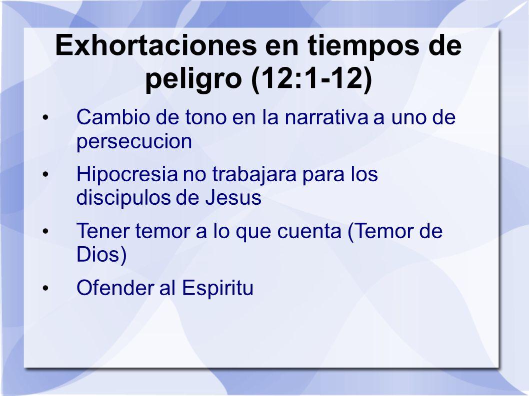 Exhortaciones en tiempos de peligro (12:1-12)