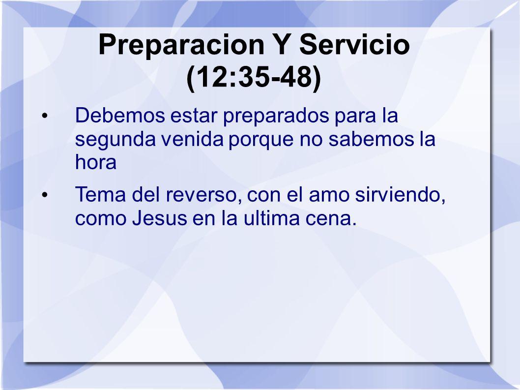 Preparacion Y Servicio