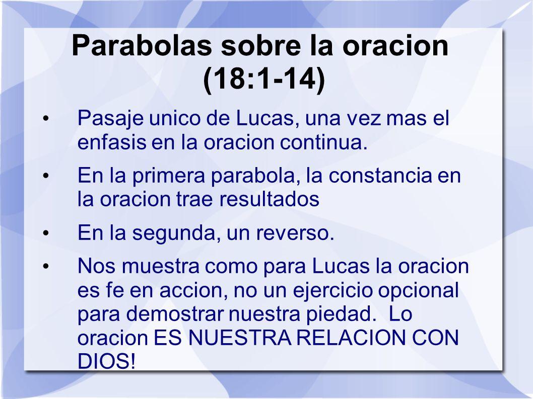 Parabolas sobre la oracion (18:1-14)
