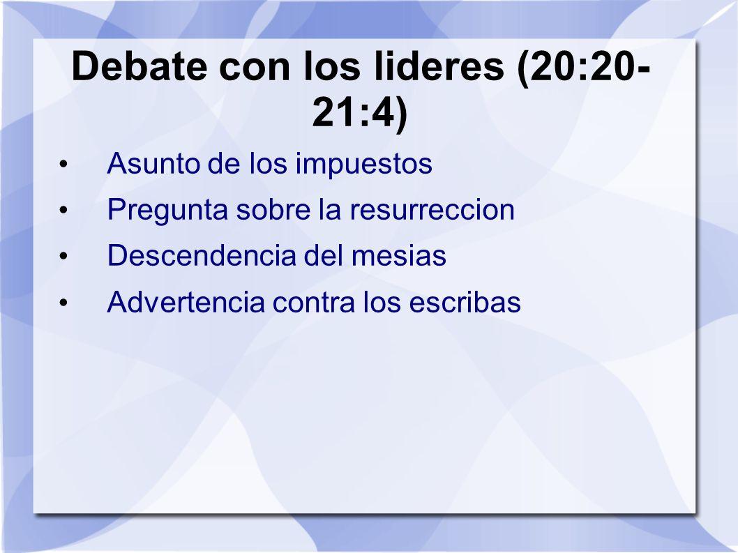 Debate con los lideres (20:20-21:4)