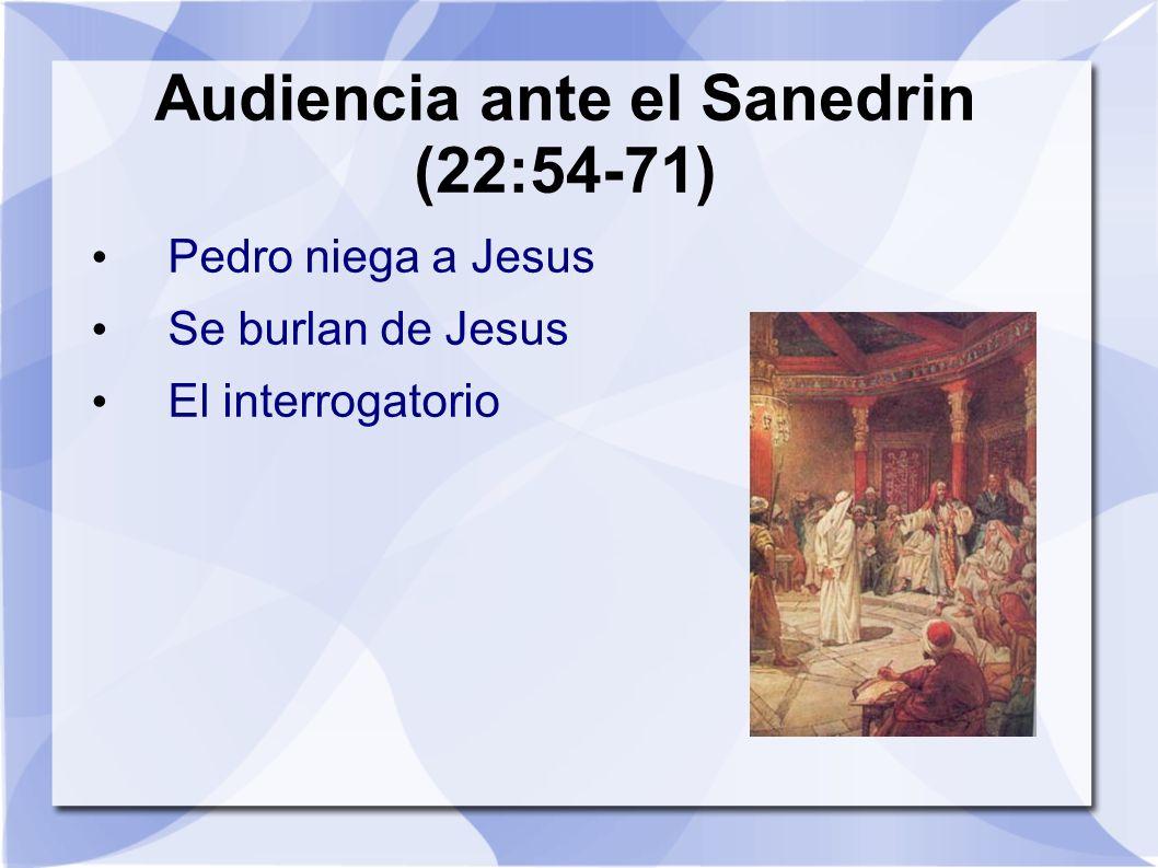 Audiencia ante el Sanedrin (22:54-71)