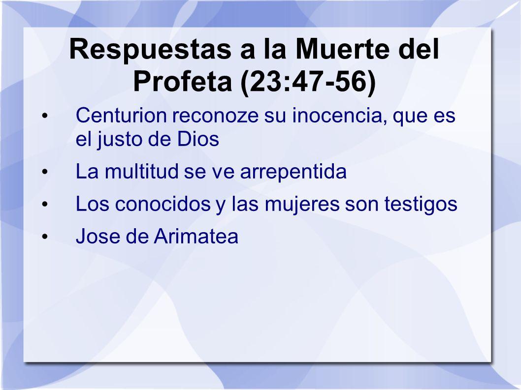 Respuestas a la Muerte del Profeta (23:47-56)