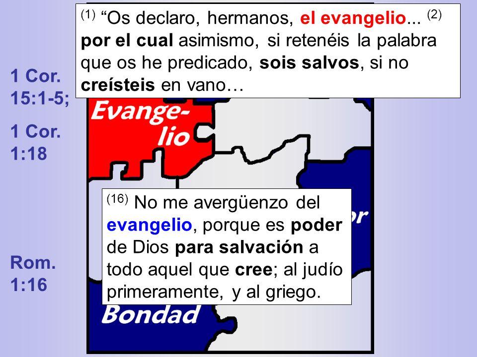 (1) Os declaro, hermanos, el evangelio