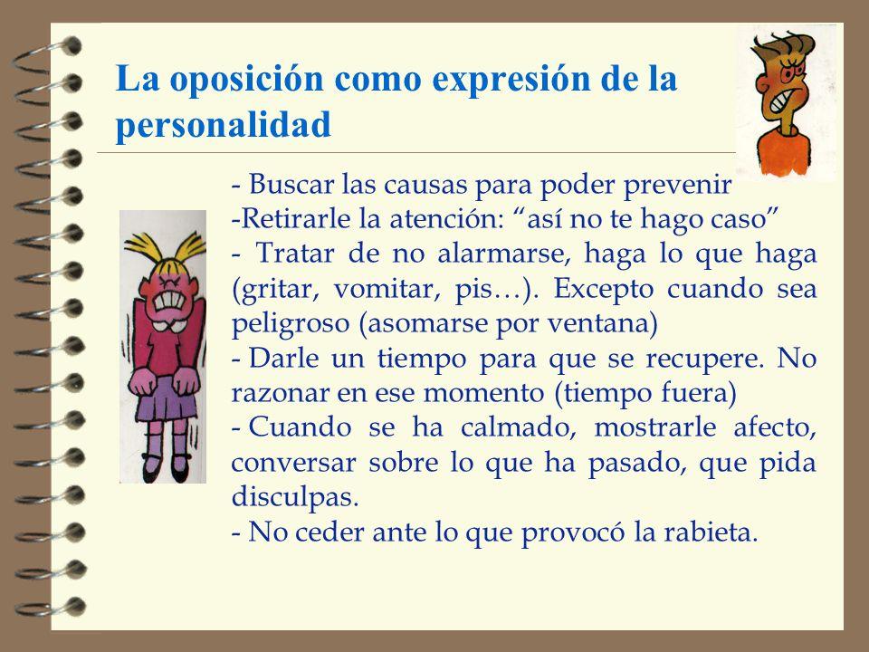 La oposición como expresión de la personalidad