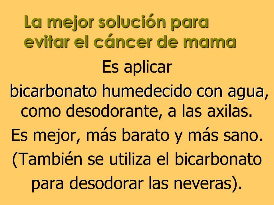La mejor solución para evitar el cáncer de mama