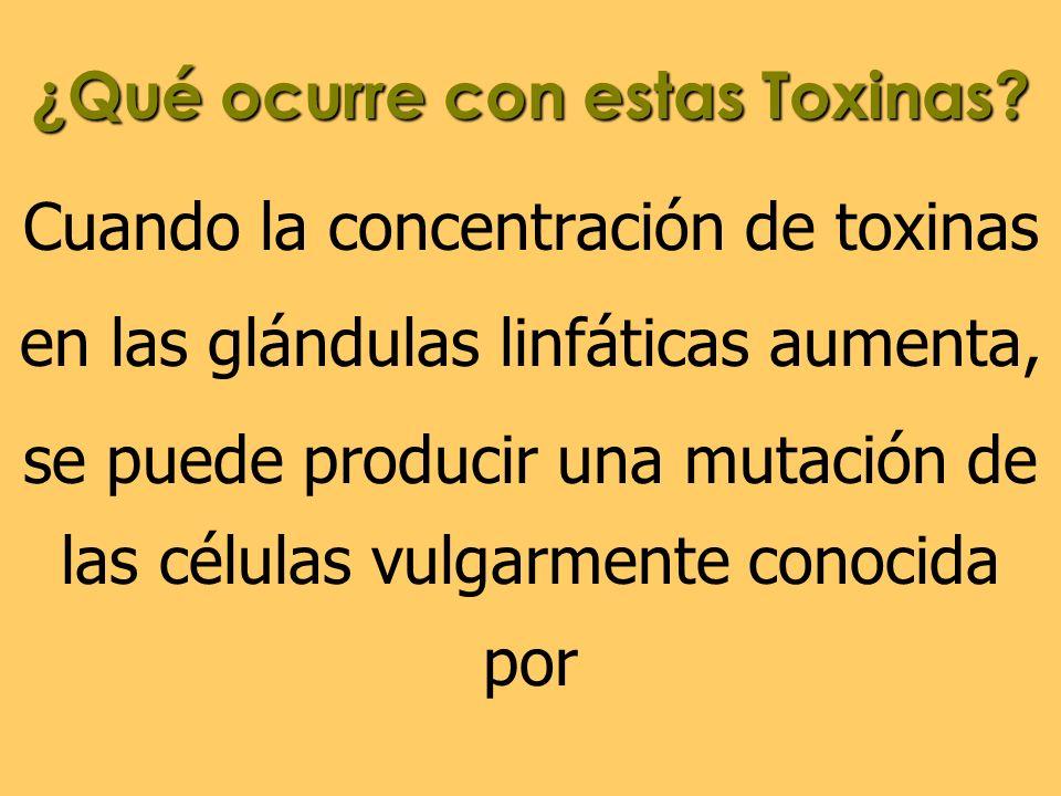 ¿Qué ocurre con estas Toxinas
