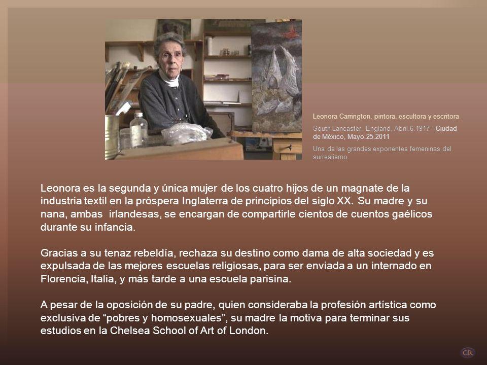 Leonora Carrington, pintora, escultora y escritora