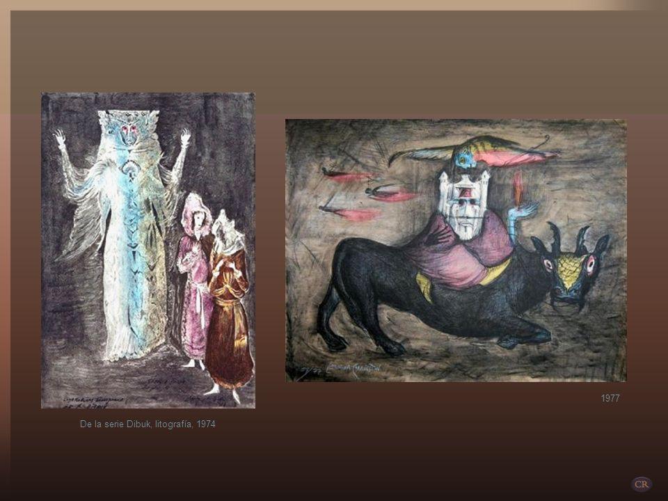 De la serie Dibuk, litografía, 1974