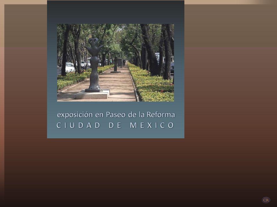 exposición en Paseo de la Reforma