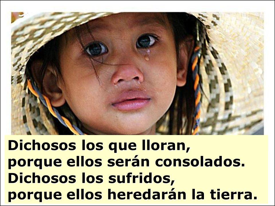 Dichosos los que lloran, porque ellos serán consolados.