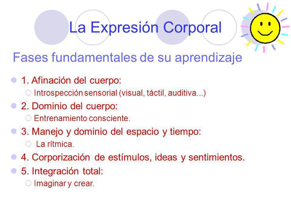 La Expresión Corporal Fases fundamentales de su aprendizaje
