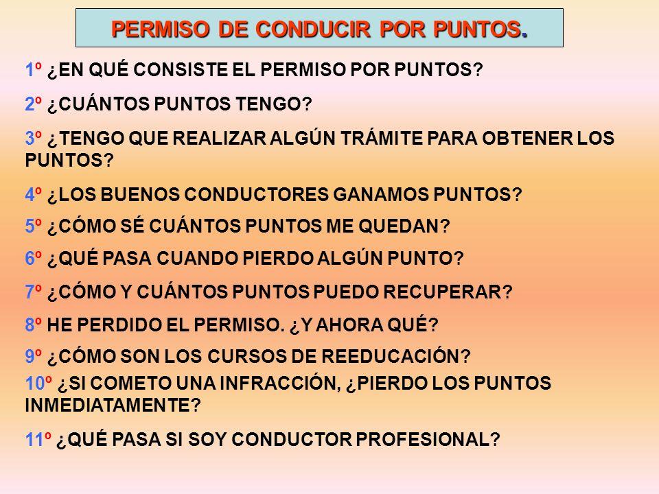 PERMISO DE CONDUCIR POR PUNTOS.