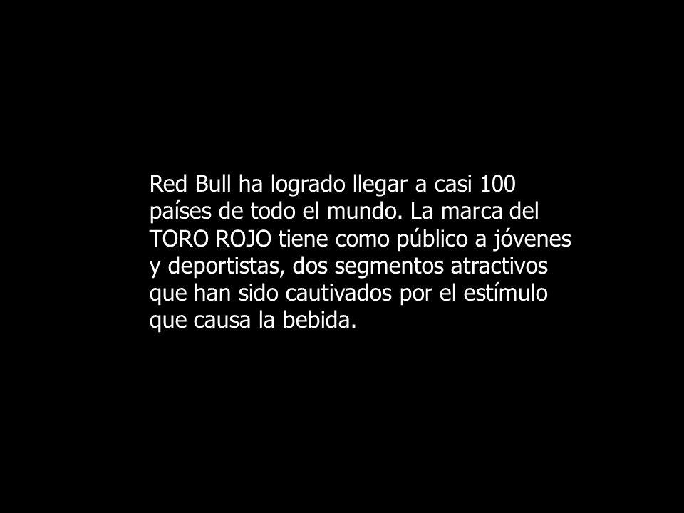 Red Bull ha logrado llegar a casi 100 países de todo el mundo