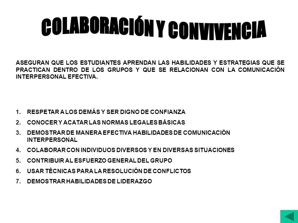 COLABORACIÓN Y CONVIVENCIA
